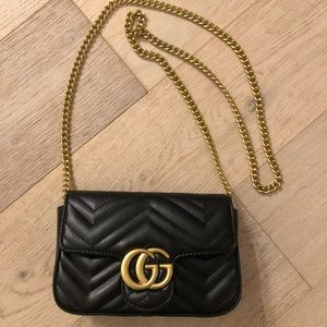GUC style mini quilted shoulder bag
